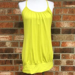 Lululemon racerback yellow built in bra